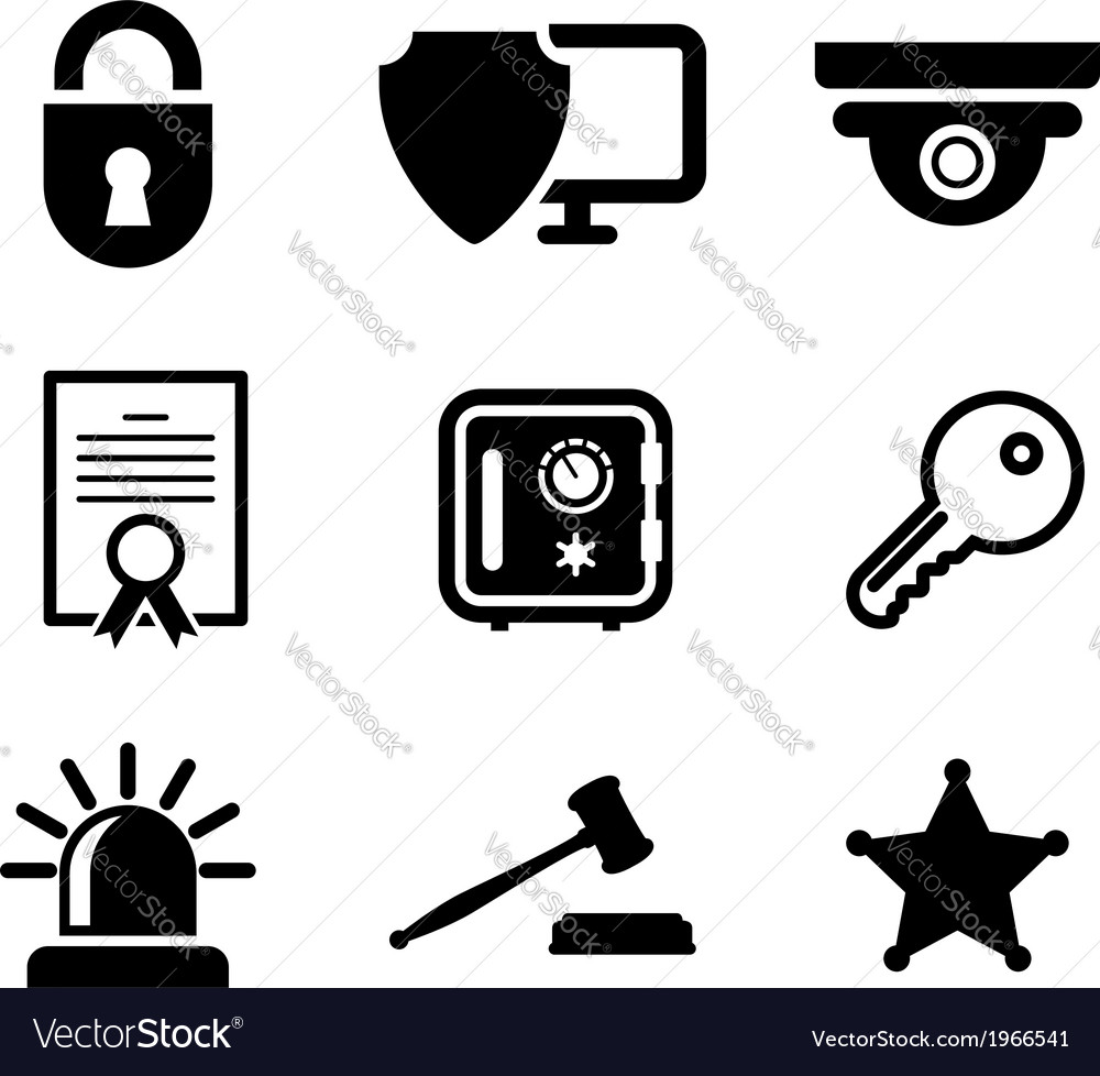 Safety and security icons set vector | Price: 1 Credit (USD $1)