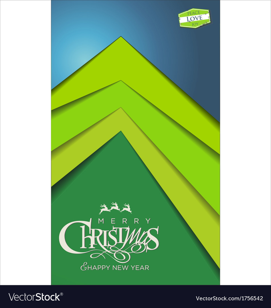 Christmas tree modern design vector | Price: 1 Credit (USD $1)