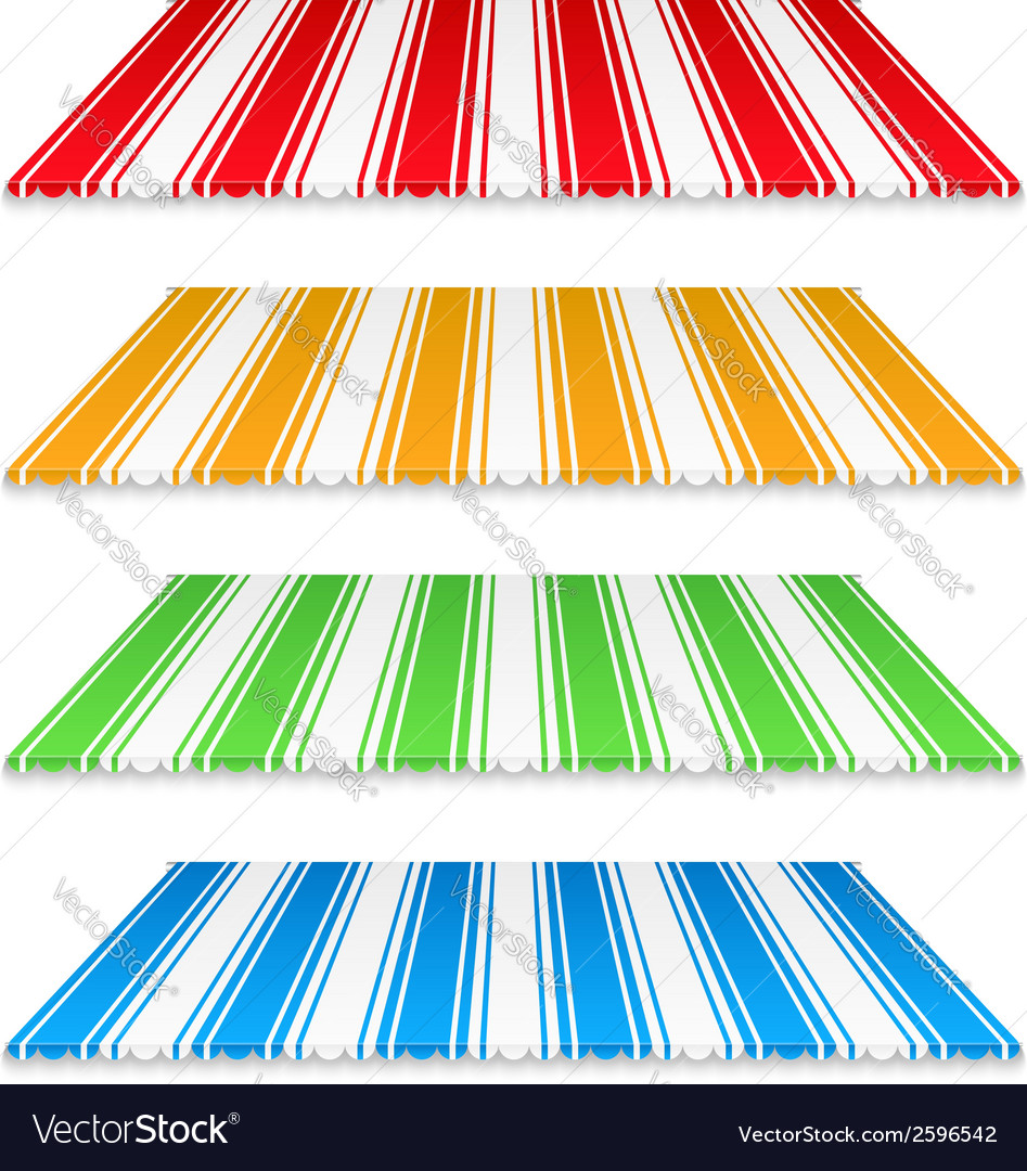 Colored awnings vector | Price: 1 Credit (USD $1)