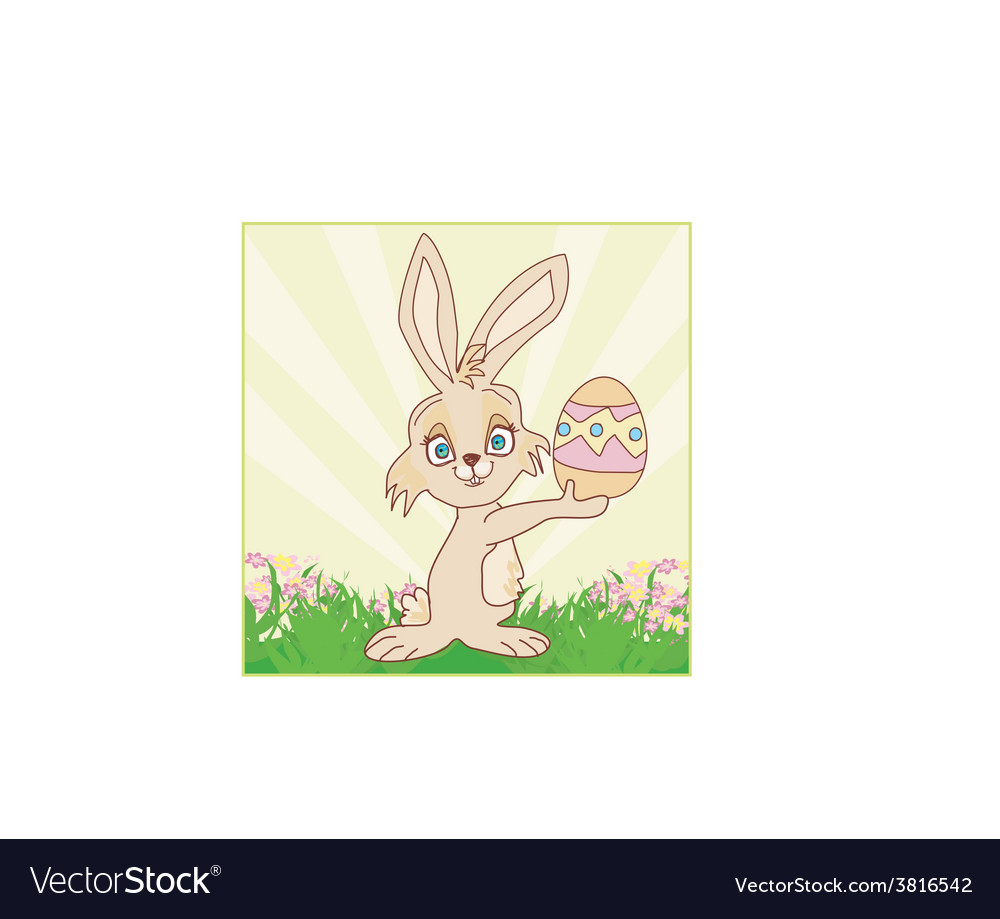 Doodle easter bunny vector | Price: 1 Credit (USD $1)
