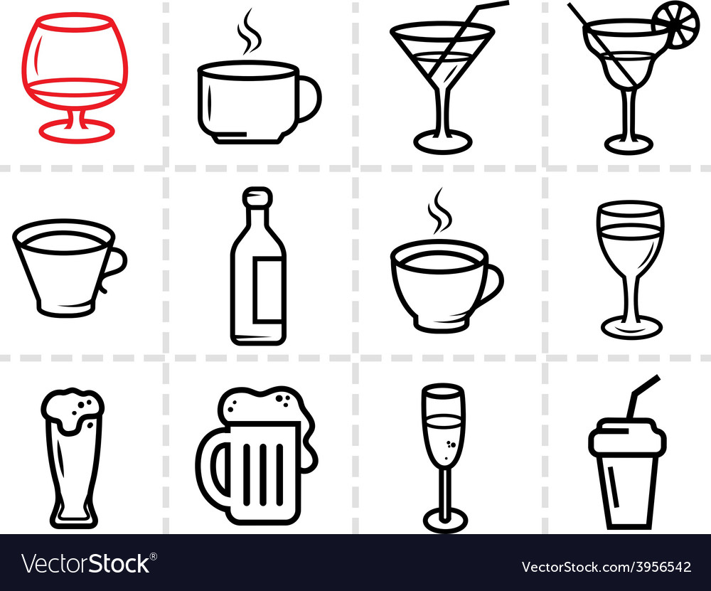 Drinks icons vector | Price: 1 Credit (USD $1)
