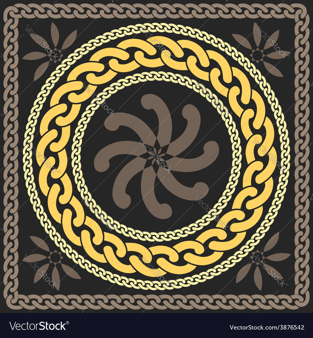 Gold pattern of chains vector | Price: 1 Credit (USD $1)