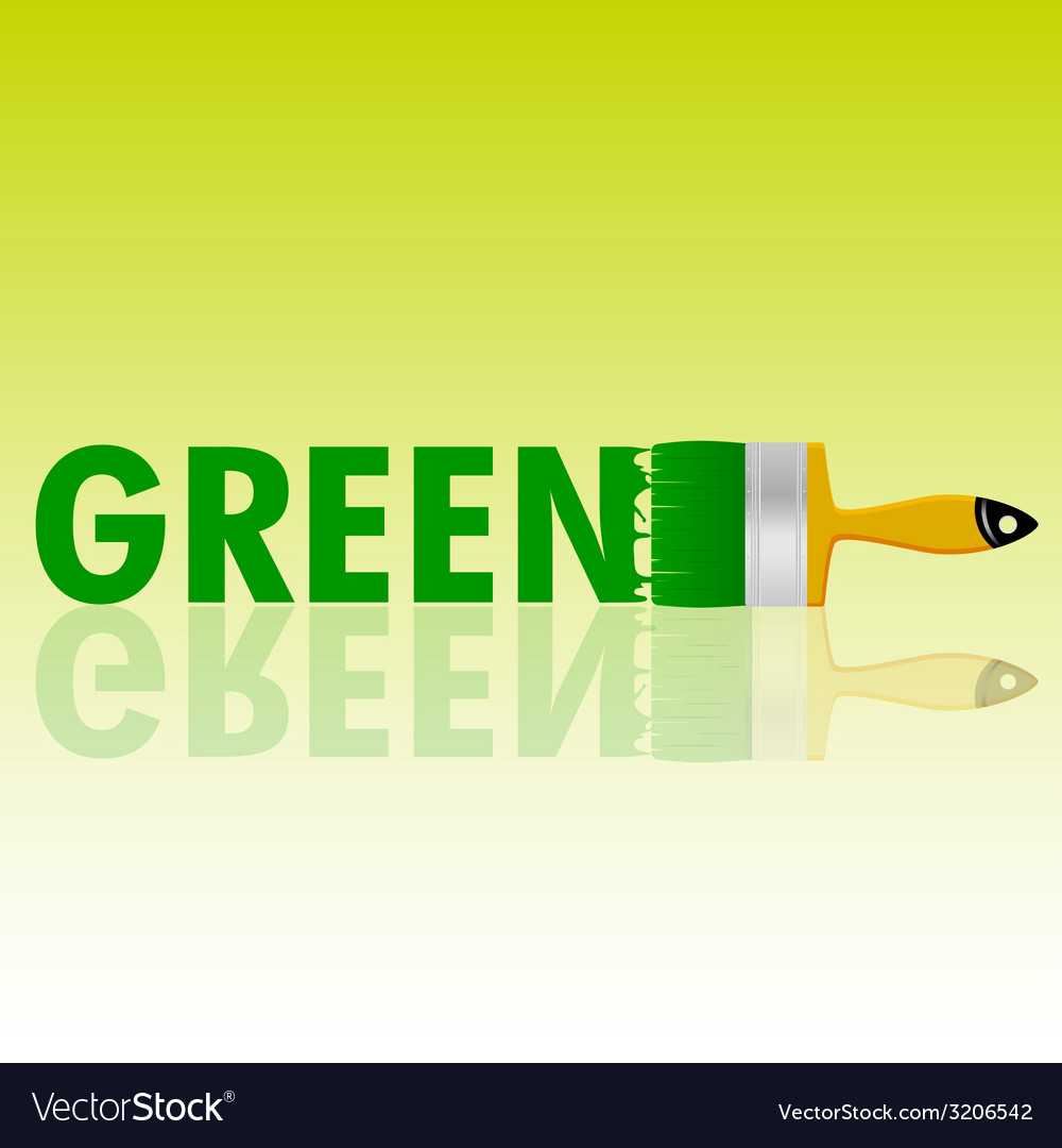 Green with brush vector | Price: 1 Credit (USD $1)