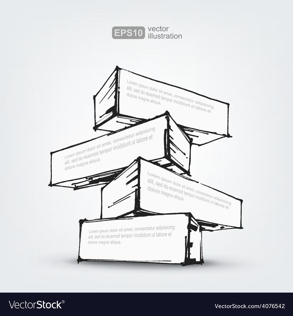 Hand drawn design element on white vector | Price: 1 Credit (USD $1)