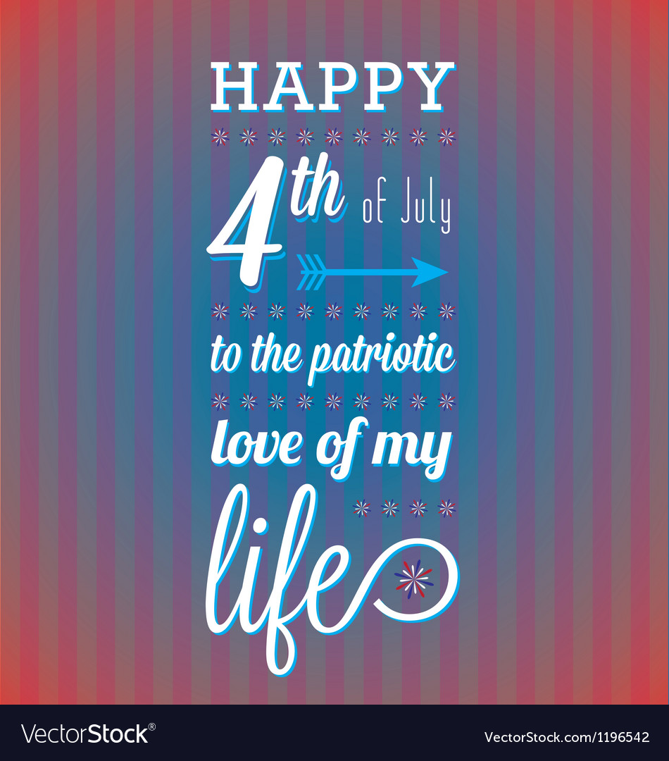 Happy 4th of july card vector | Price: 1 Credit (USD $1)