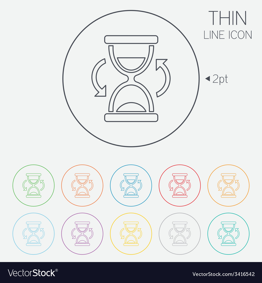 Hourglass sign icon sand timer symbol vector | Price: 1 Credit (USD $1)