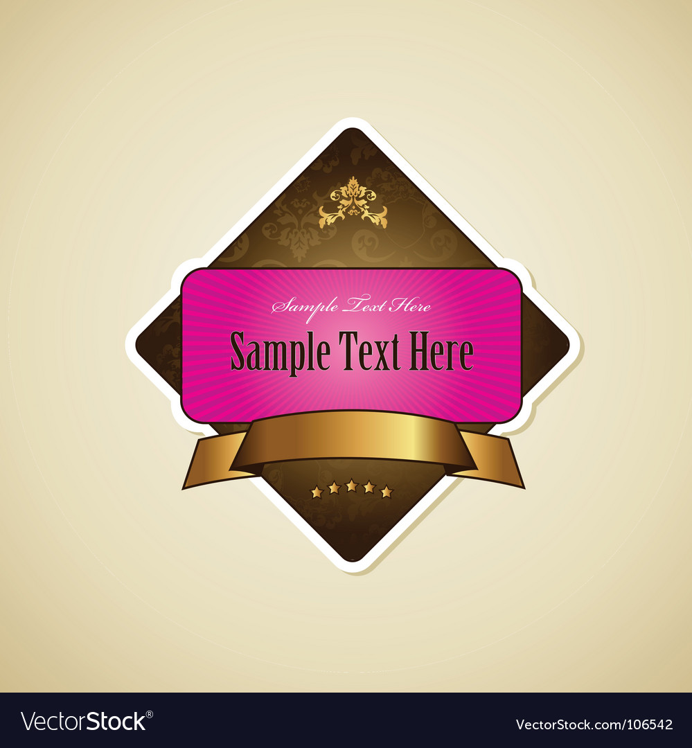 Label with ribbon vector | Price: 1 Credit (USD $1)