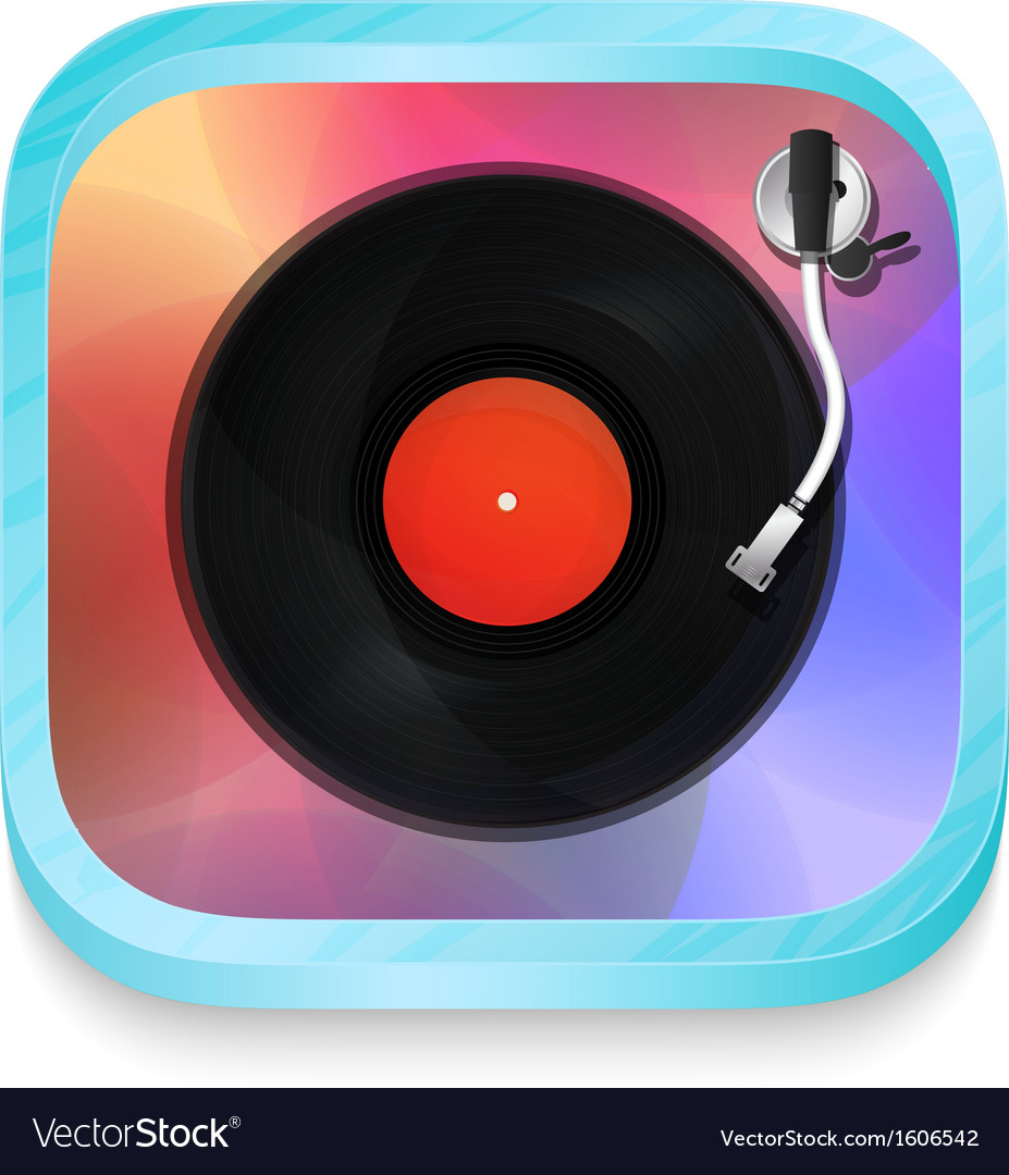 Vintage record player icon vector | Price: 1 Credit (USD $1)