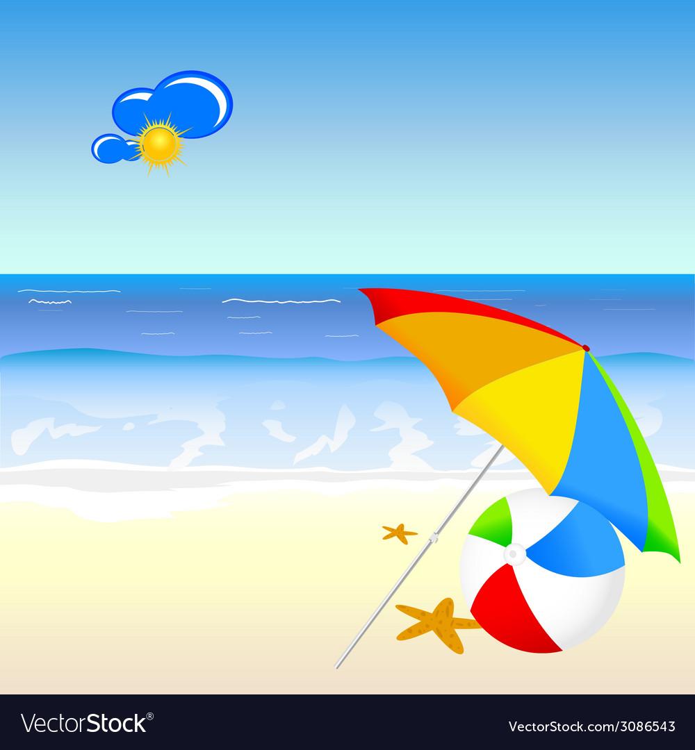 Beach beauty cartoon art vector | Price: 1 Credit (USD $1)
