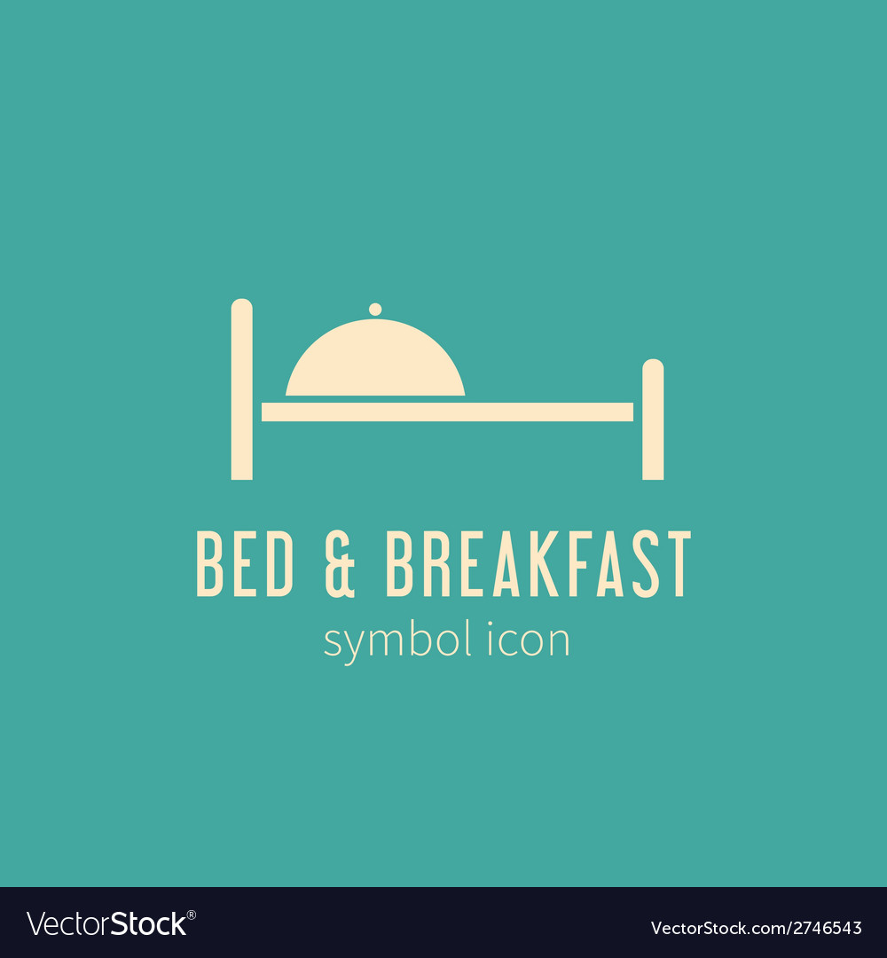 Bed and breakfast concept symbol icon or logo vector | Price: 1 Credit (USD $1)