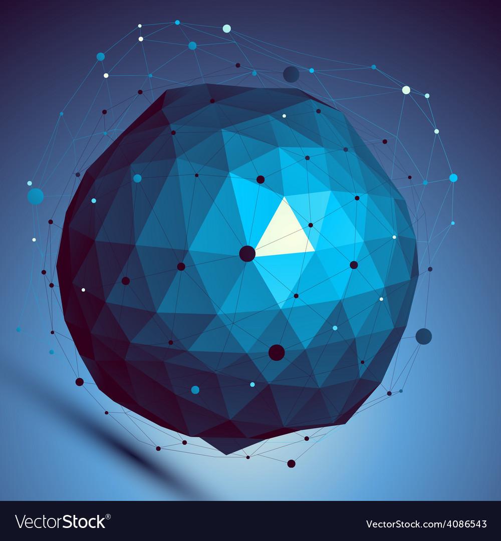 Blue spatial digital lattice backdrop dimensional vector | Price: 1 Credit (USD $1)