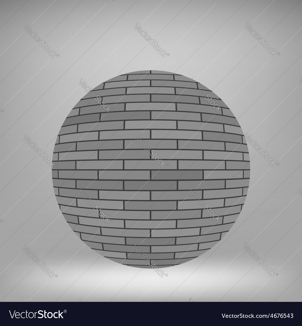 Brick circle vector | Price: 1 Credit (USD $1)