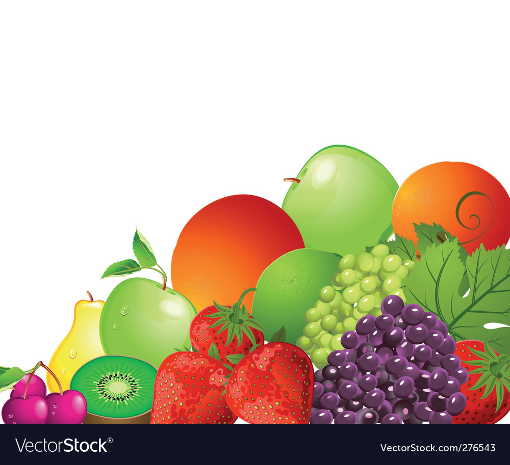 Bright fruit vector | Price: 3 Credit (USD $3)