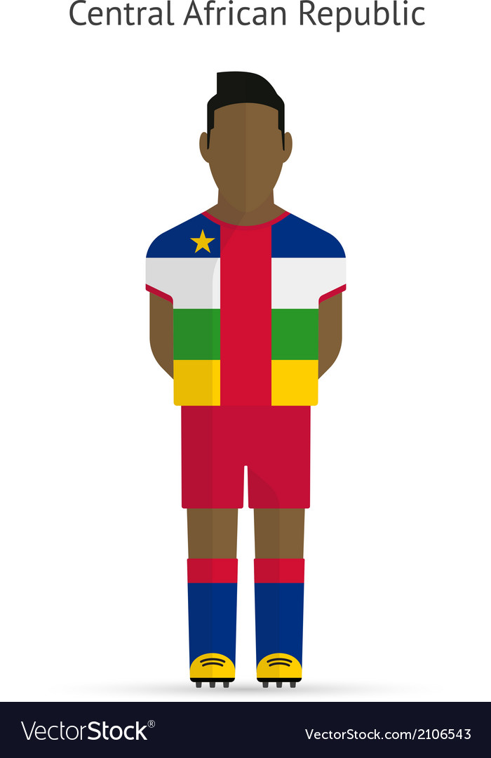 Central african republic football player soccer vector   Price: 1 Credit (USD $1)