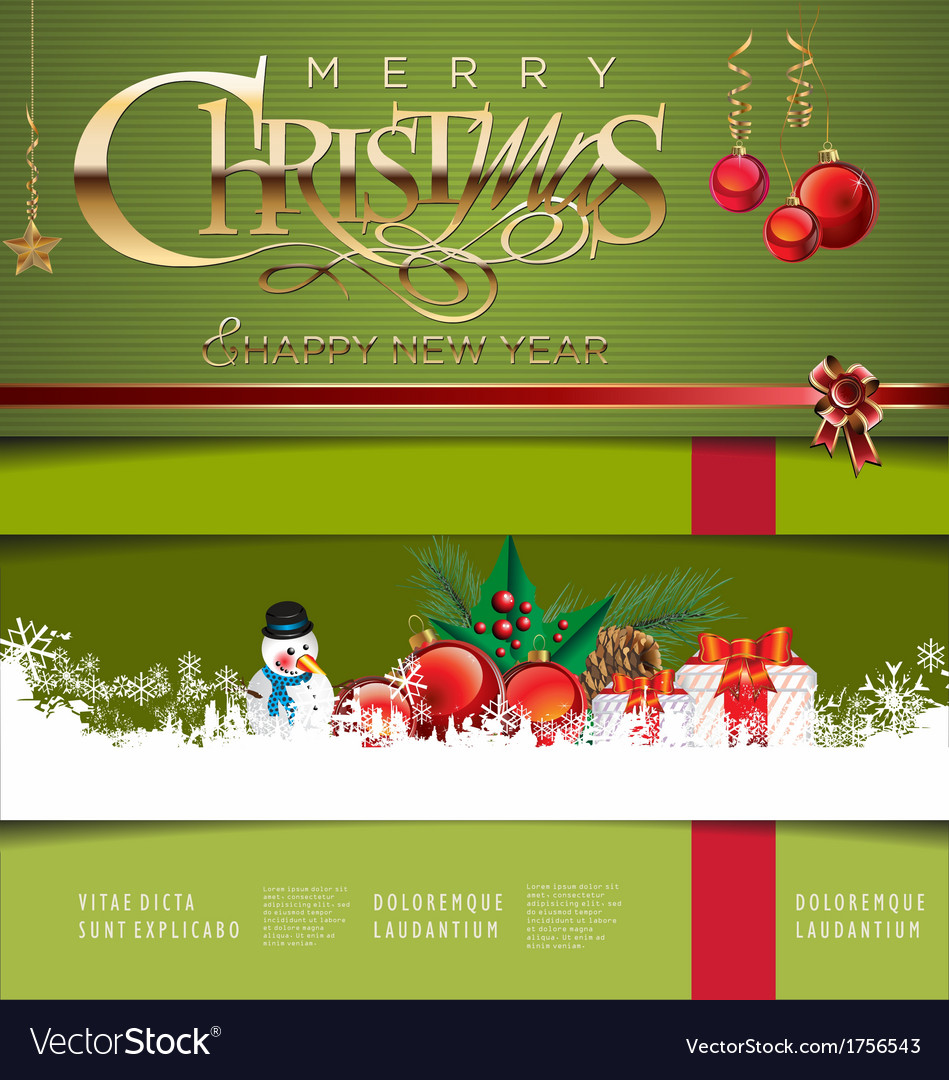 Christmas green background vector | Price: 1 Credit (USD $1)
