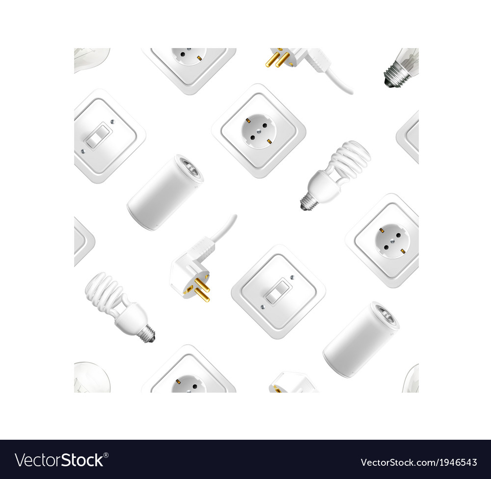 Electrical appliance seamless pattern vector | Price: 1 Credit (USD $1)