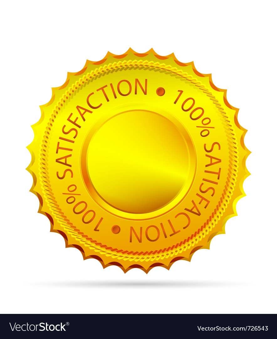 Golded satisfaction tag vector | Price: 1 Credit (USD $1)