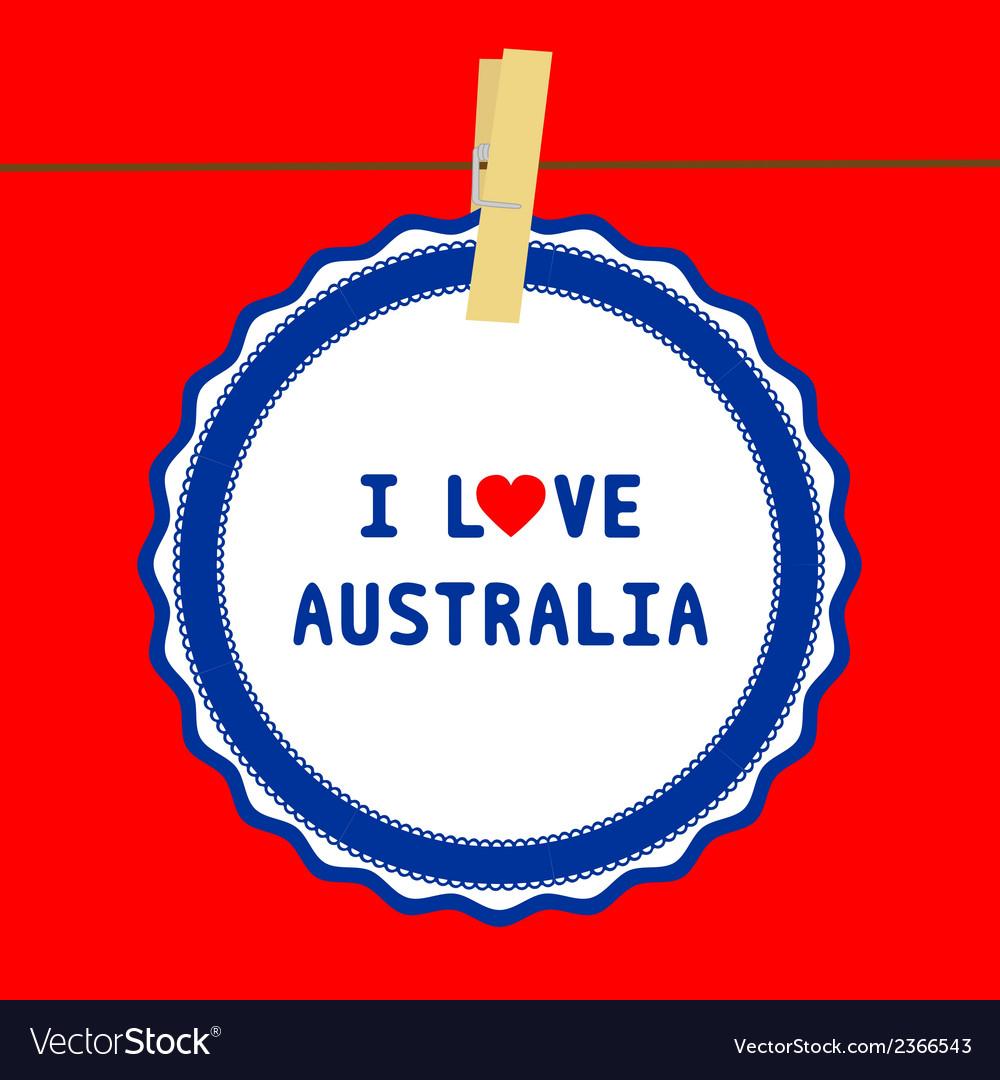 I love australia4 vector | Price: 1 Credit (USD $1)