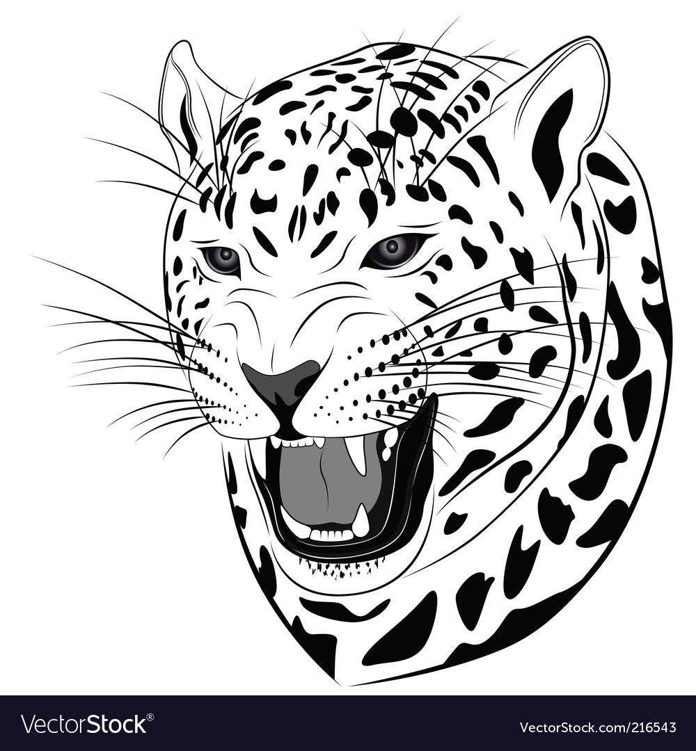 Leopard tattoo vector | Price: 3 Credit (USD $3)