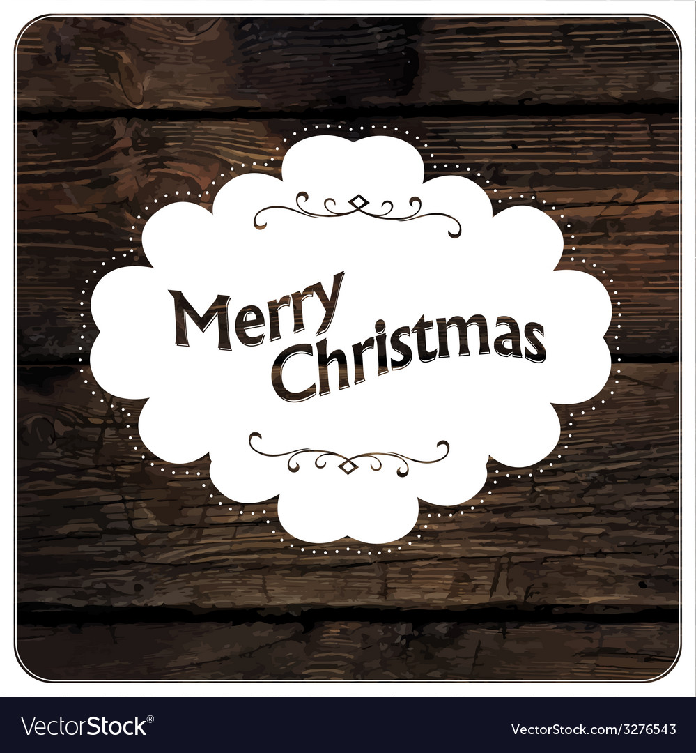 Merry christmas vintage design vector | Price: 1 Credit (USD $1)