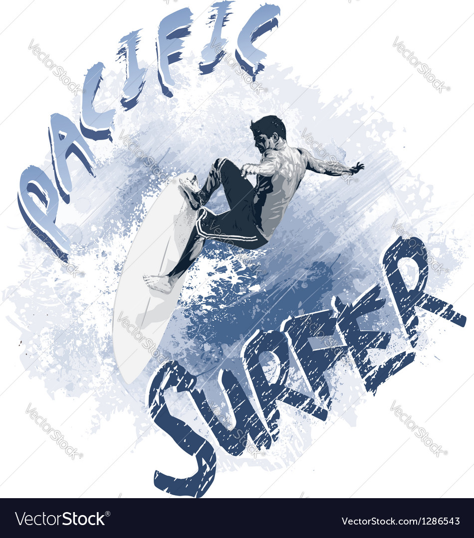 Pacific surfer vector | Price: 1 Credit (USD $1)
