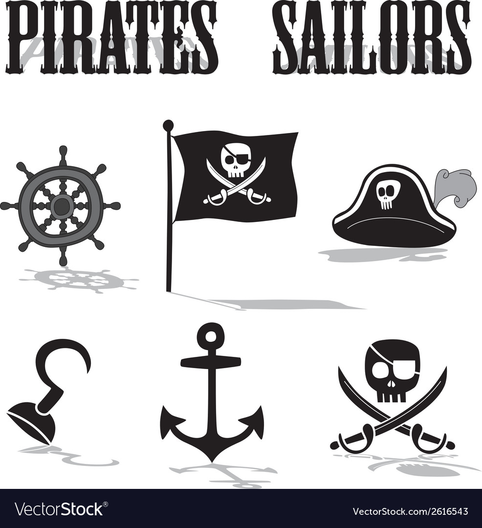 Pirate sailors vector