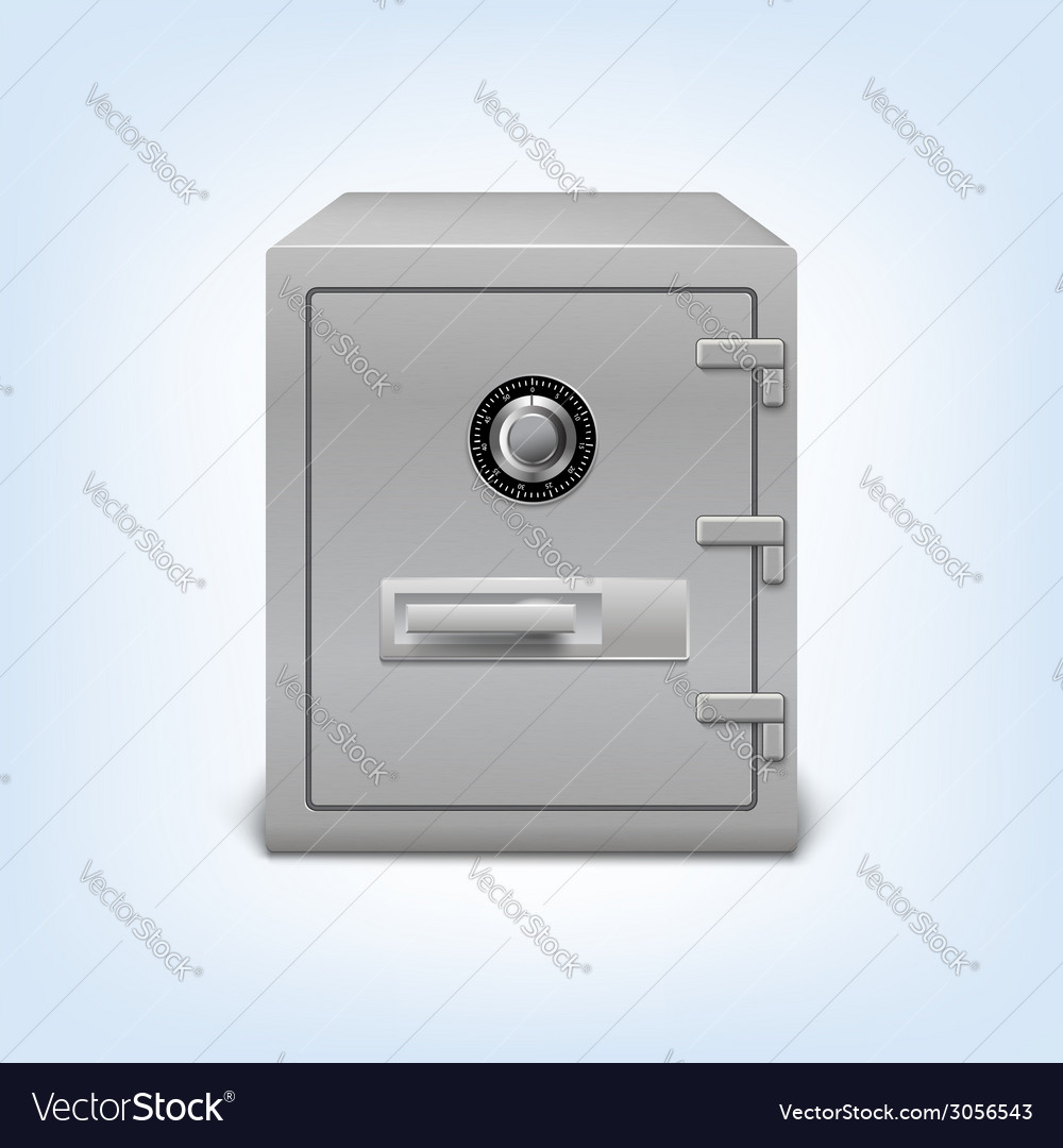 Safe with lock vector | Price: 1 Credit (USD $1)