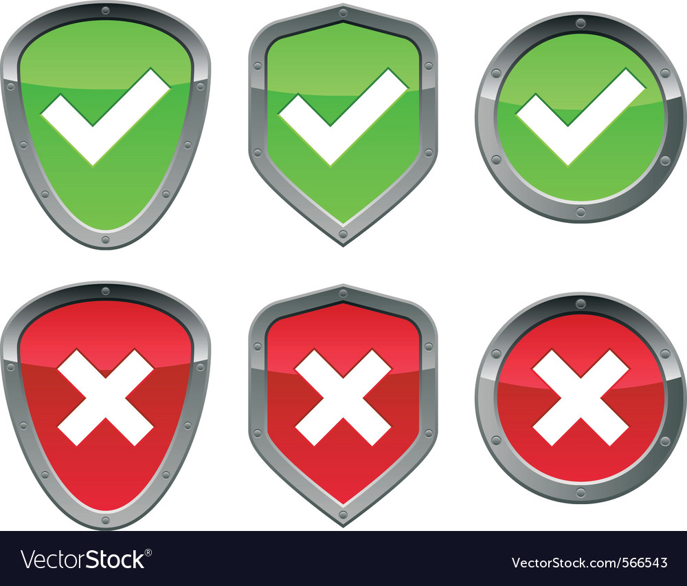 Security signs vector | Price: 1 Credit (USD $1)