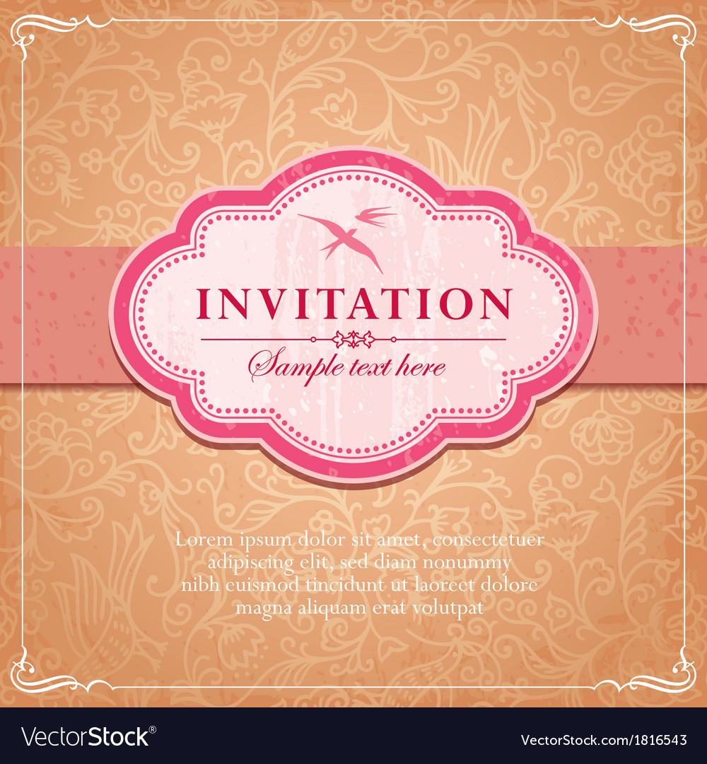 Vintage background frame template vector | Price: 1 Credit (USD $1)