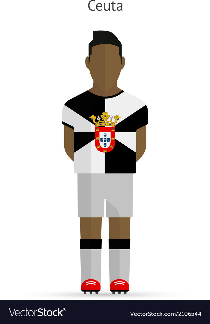 Ceuta football player soccer uniform vector | Price: 1 Credit (USD $1)