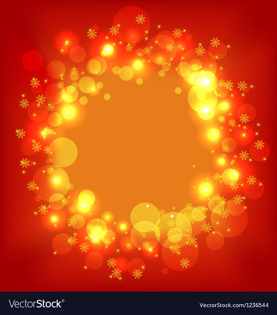 Christmas holiday wallpaper with glowing effect vector | Price: 1 Credit (USD $1)