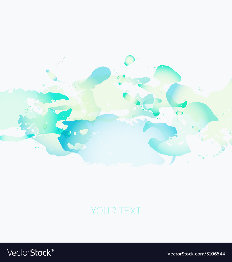 Colorful watercolor spots on a white background vector | Price: 1 Credit (USD $1)