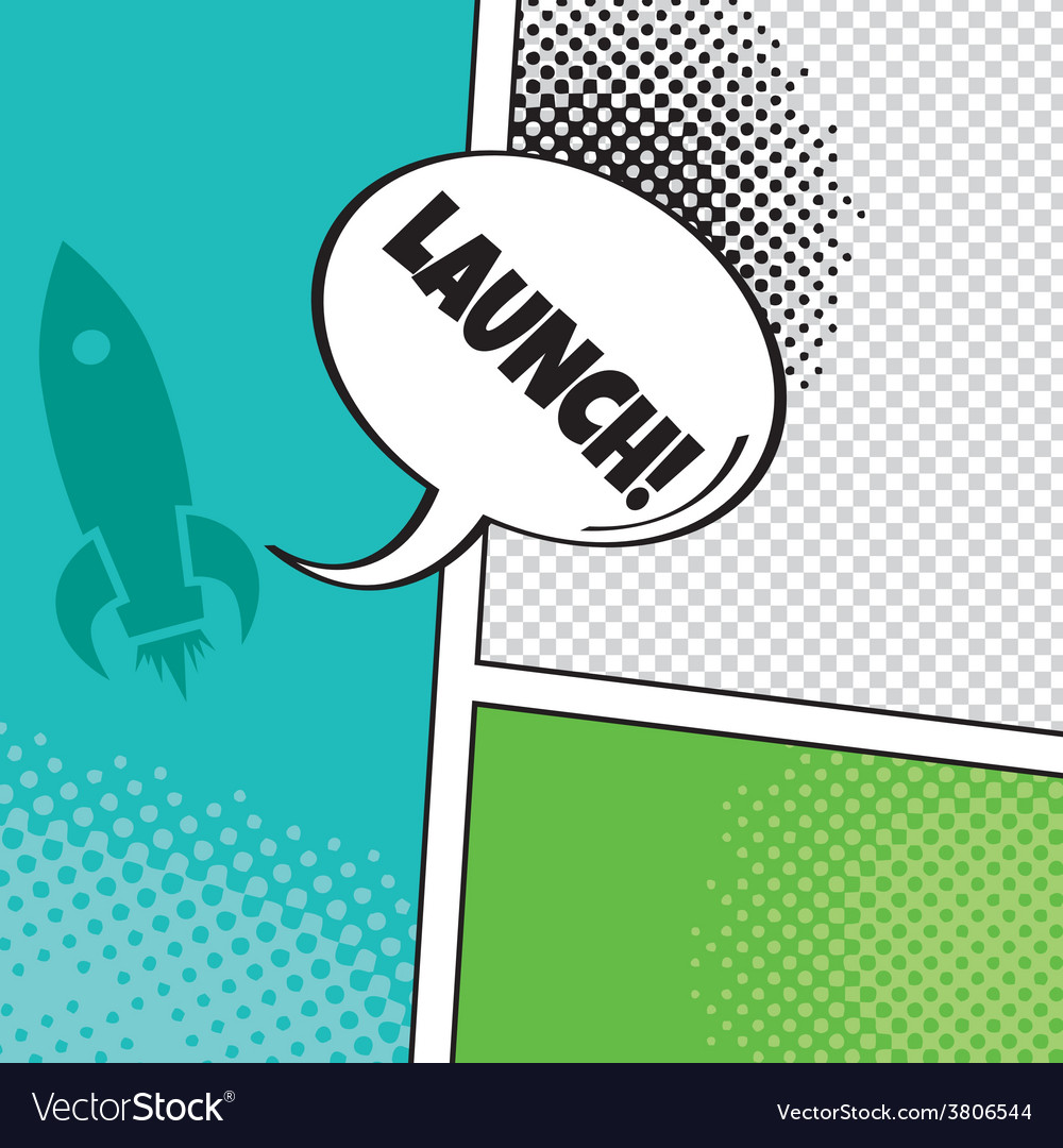 Comic template element with speech bubble and vector | Price: 1 Credit (USD $1)