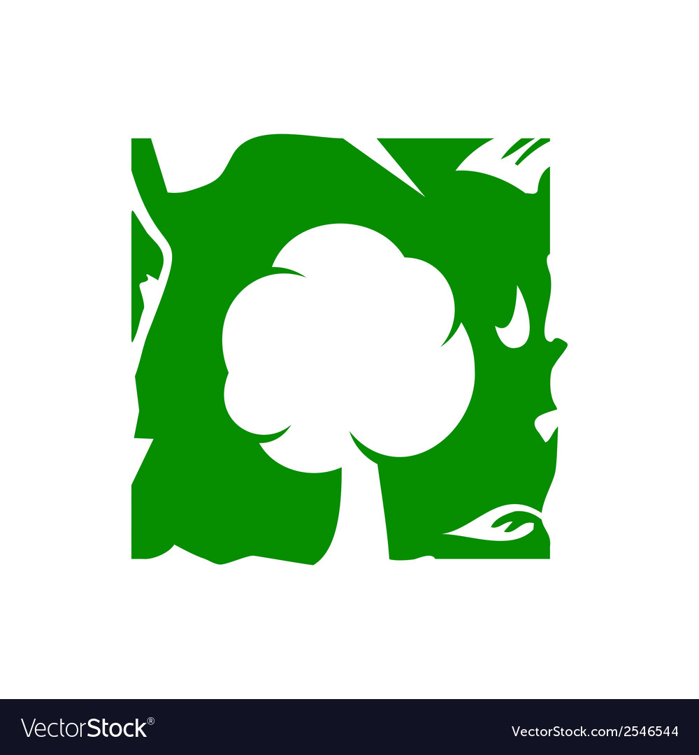 Green tree sign vector | Price: 1 Credit (USD $1)