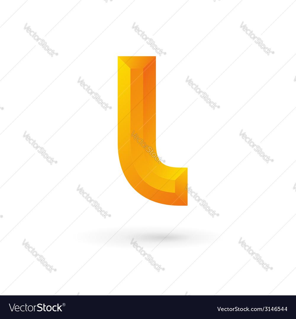 Letter l logo icon vector | Price: 1 Credit (USD $1)