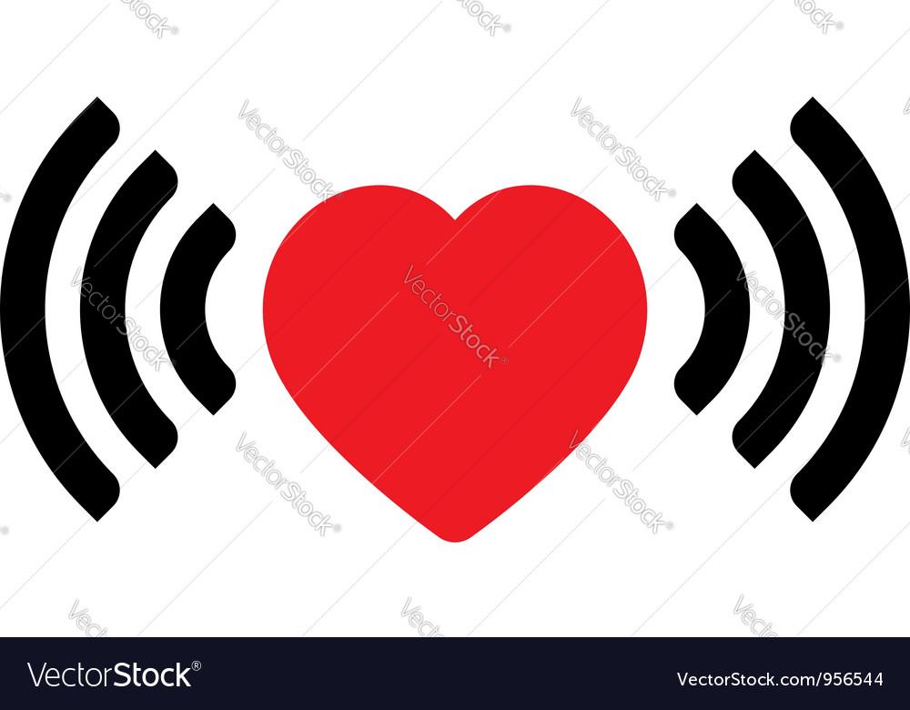 Love via internet vector | Price: 1 Credit (USD $1)