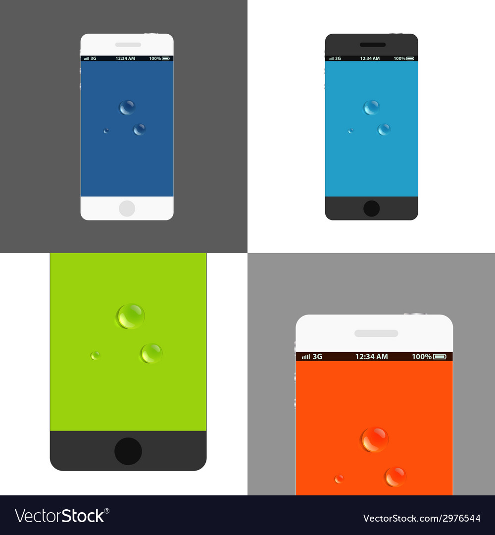 Modern phones collection vector | Price: 1 Credit (USD $1)