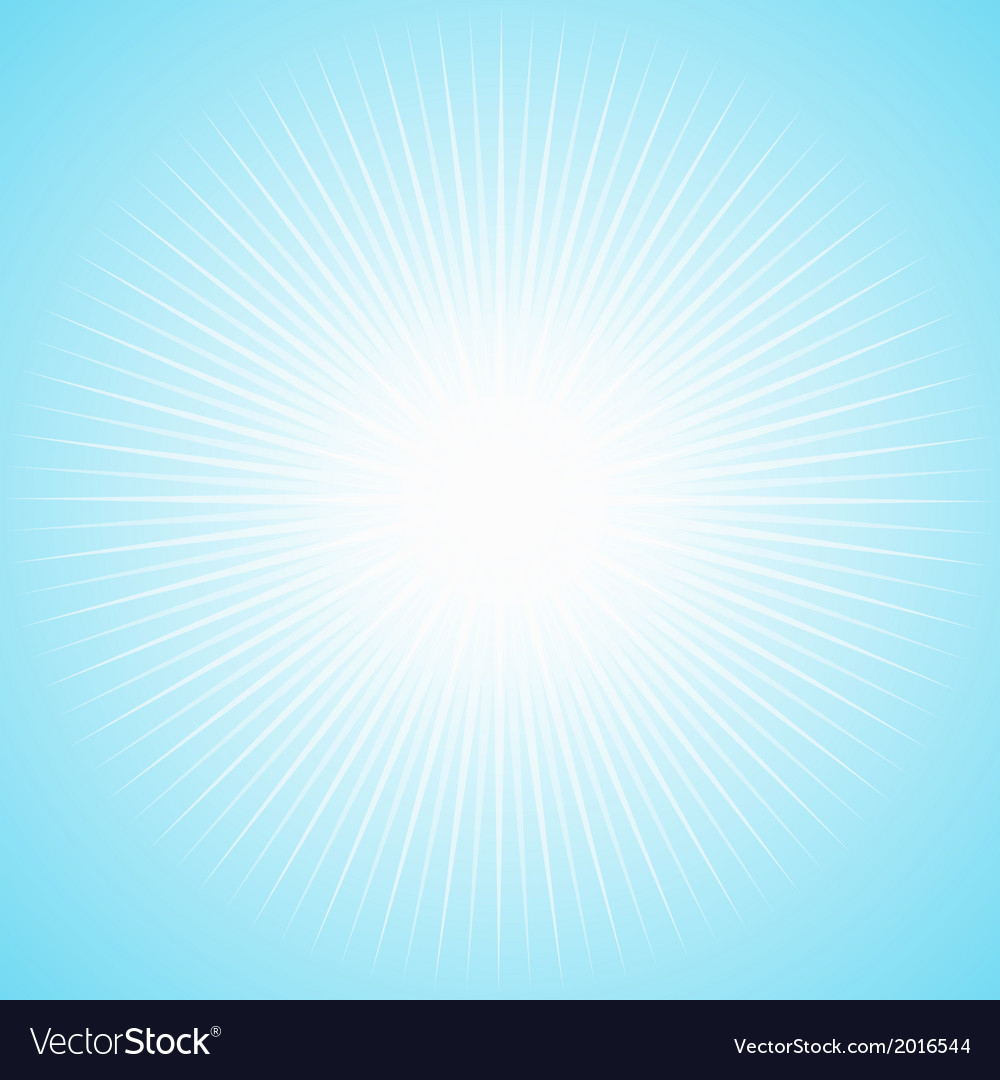 White sun with long thin rays vector | Price: 1 Credit (USD $1)