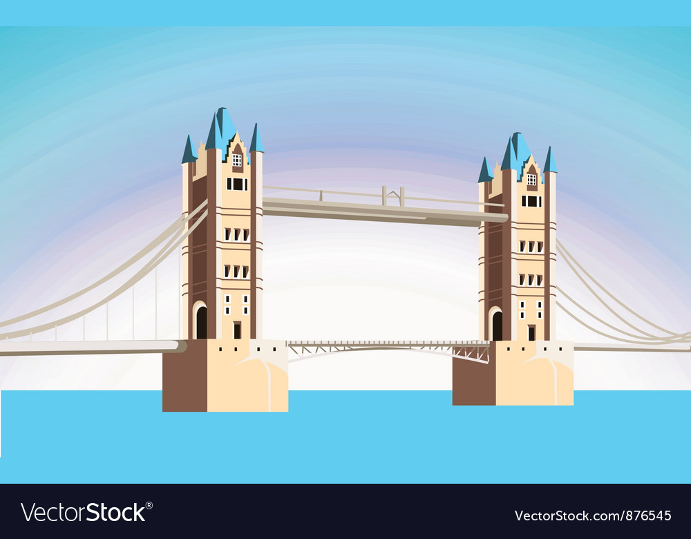 Beautiful bridge vector | Price: 1 Credit (USD $1)
