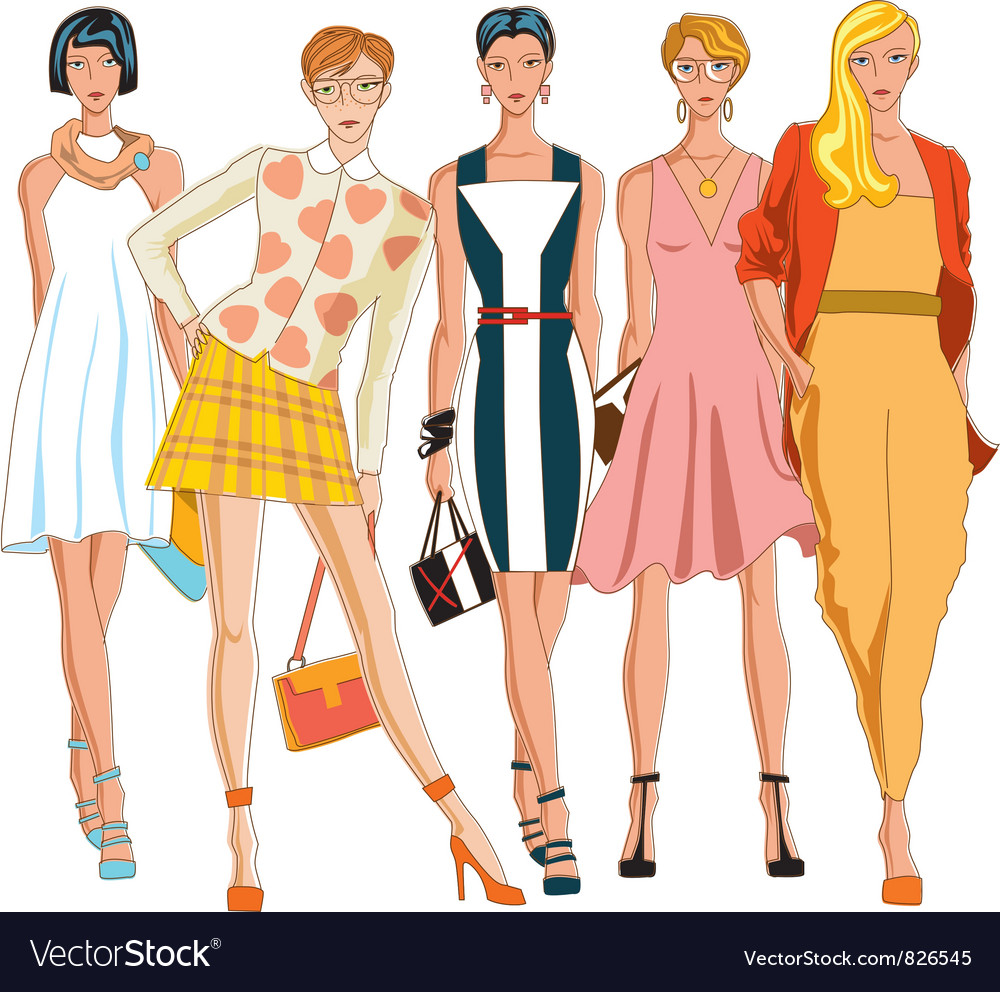 Beautiful girls vector | Price: 5 Credit (USD $5)