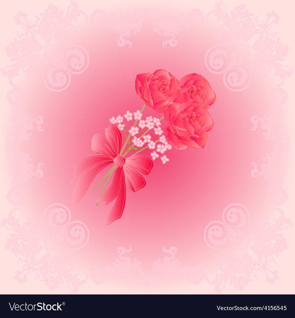 Bouquet of three roses festive background vector | Price: 1 Credit (USD $1)