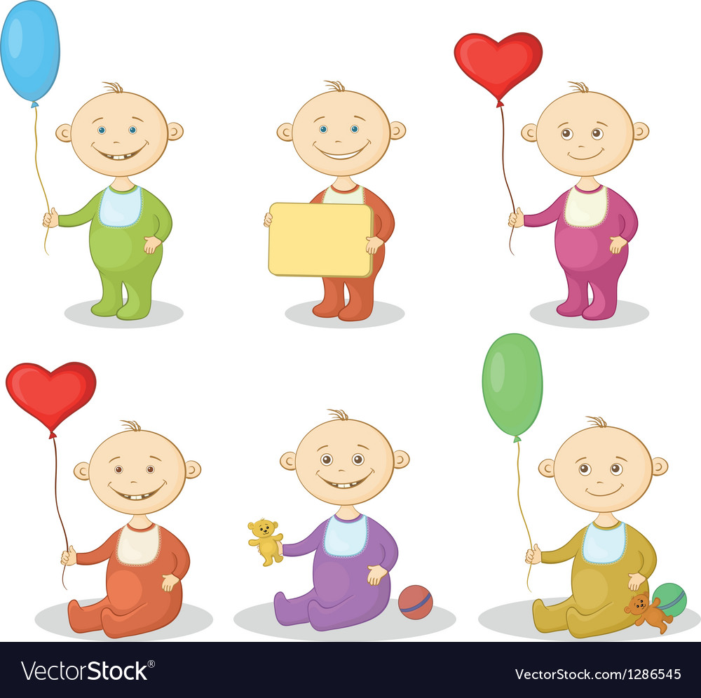 Cartoon children with toys vector | Price: 3 Credit (USD $3)