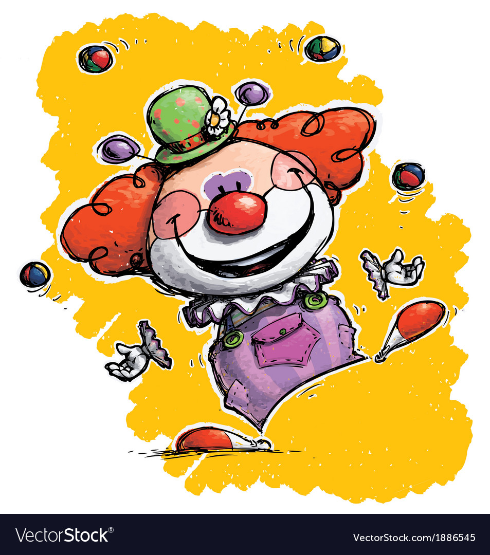 Clown juggling vector | Price: 3 Credit (USD $3)