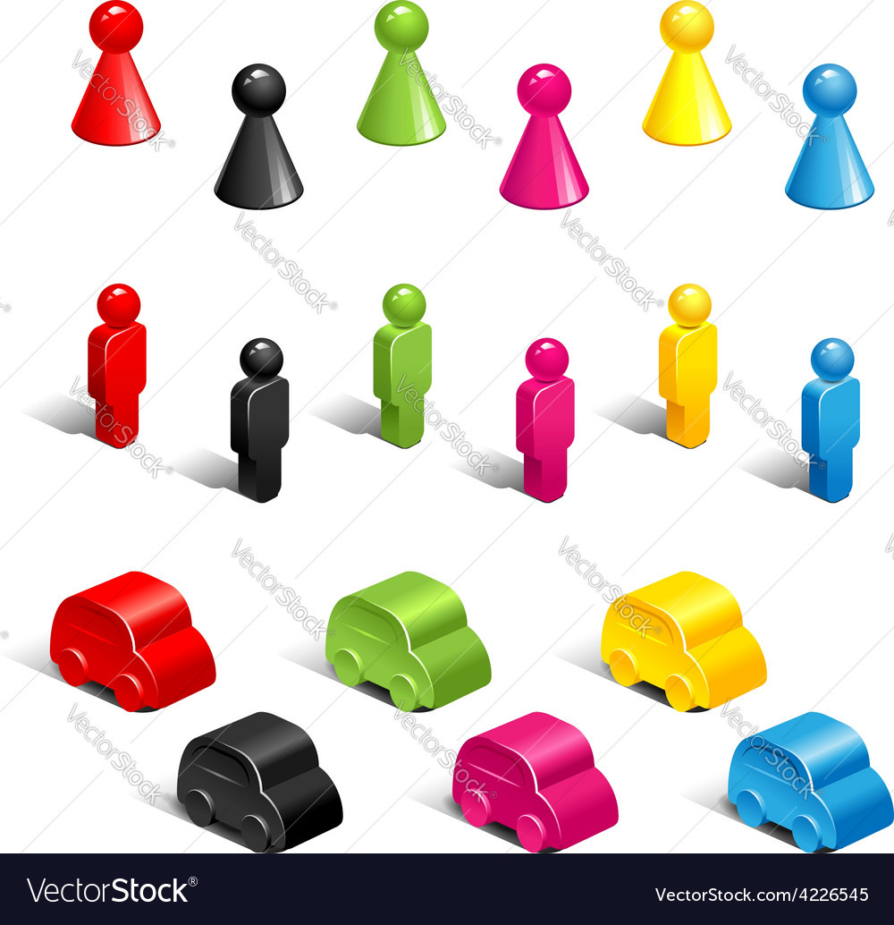 Gaming pieces vector | Price: 1 Credit (USD $1)