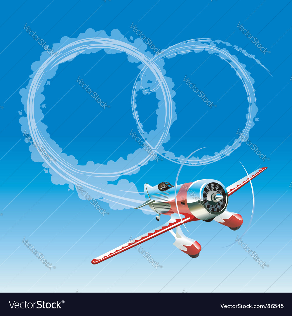 Plane and wedding message vector | Price: 3 Credit (USD $3)