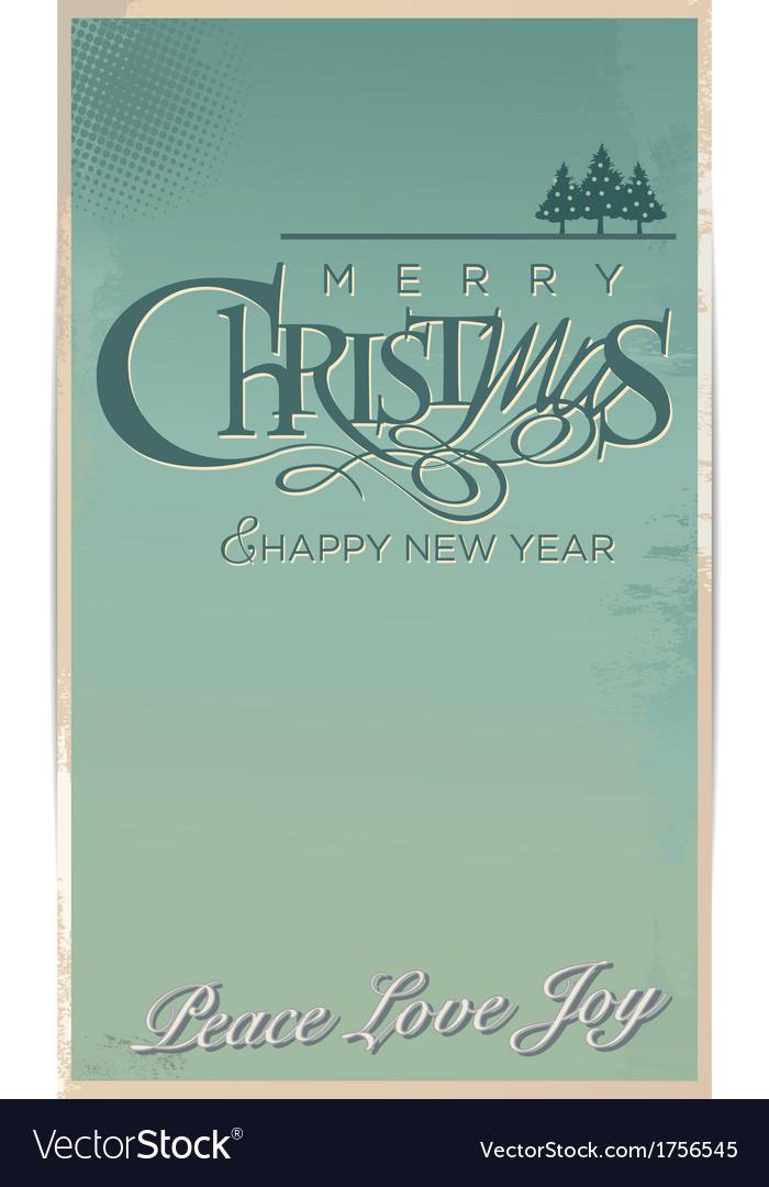 Retro christmas banner vector | Price: 1 Credit (USD $1)