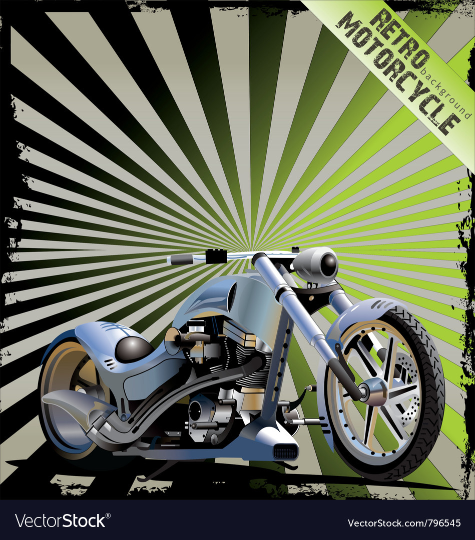 Retro motorcycle background vector | Price: 3 Credit (USD $3)