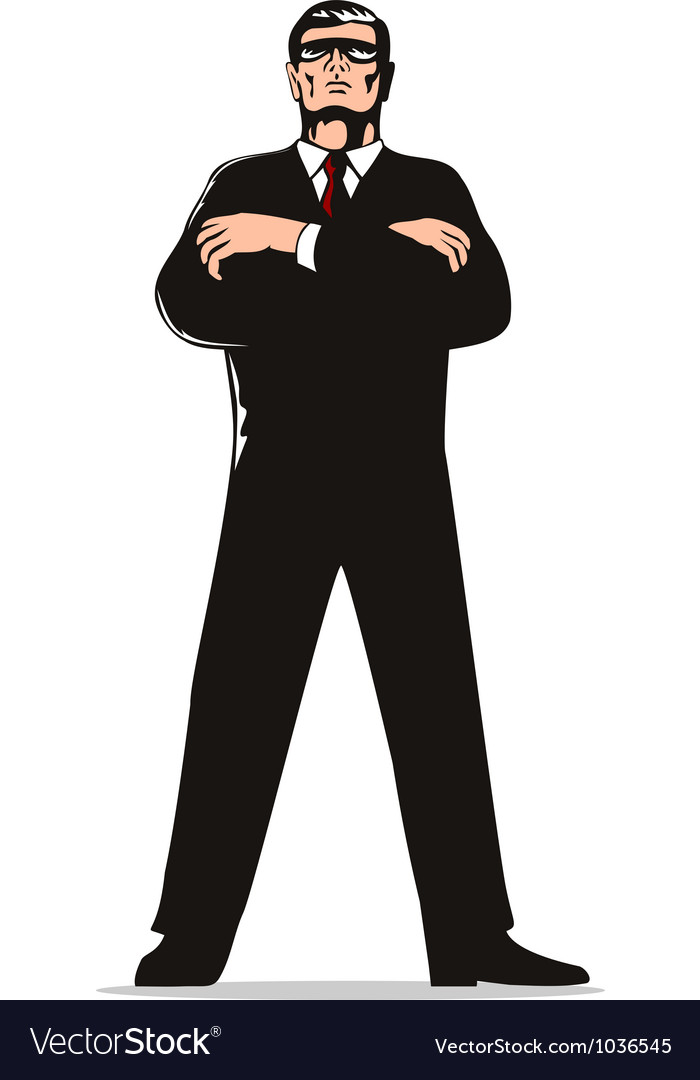 Secret service agent body guard vector | Price: 1 Credit (USD $1)