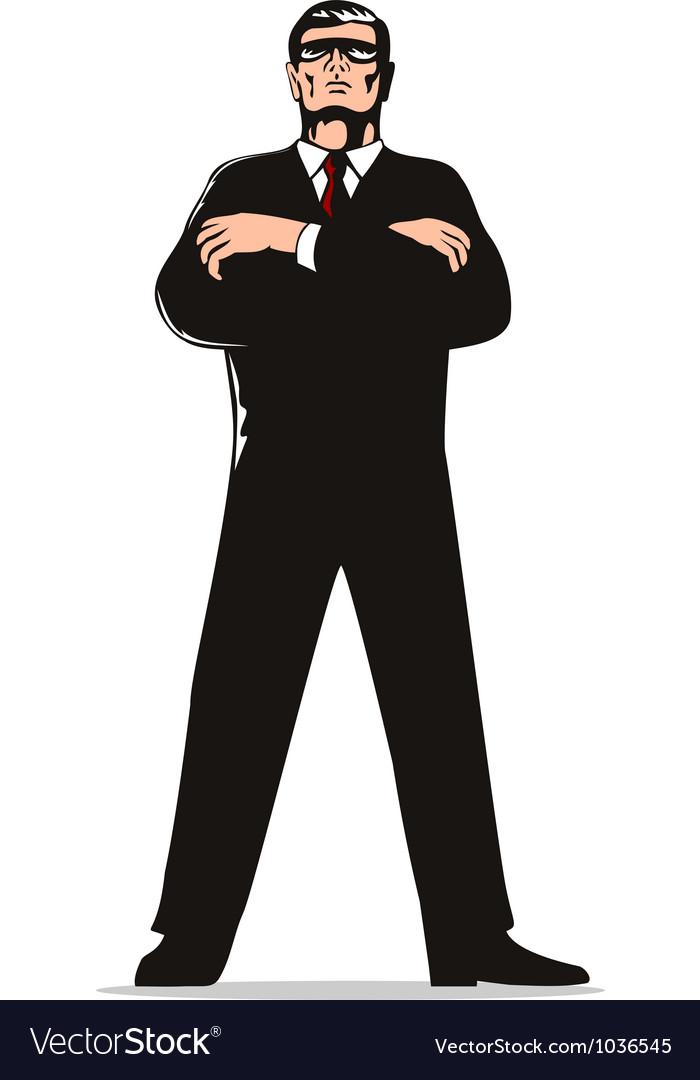 Secret service agent body guard vector | Price: 1 Credit (USD $1)
