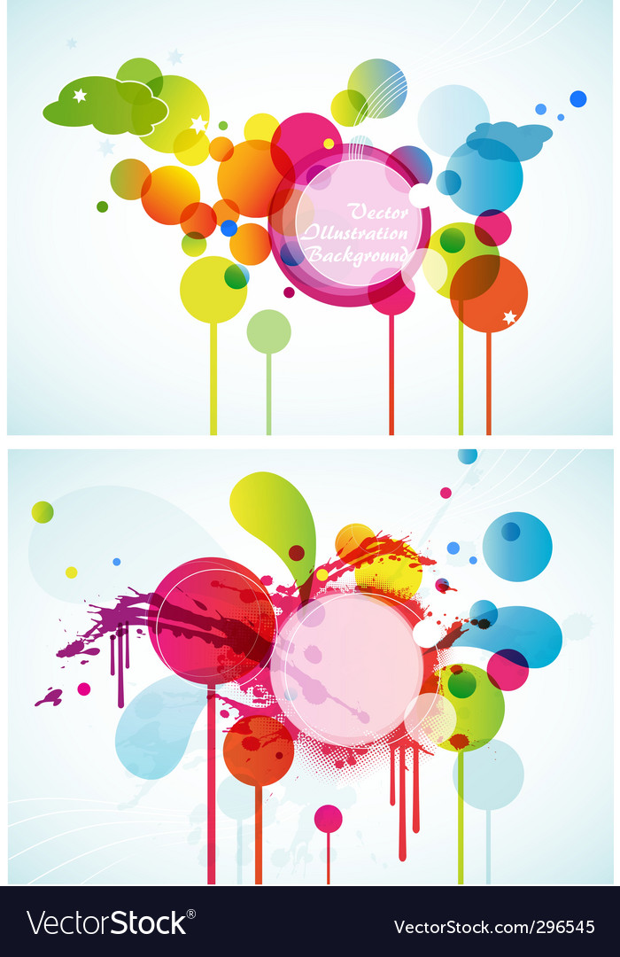 Set of abstract colored circles vector | Price: 1 Credit (USD $1)